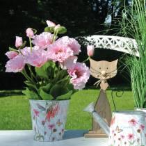 Orientalischer Mohn, Kunstblume, Mohn im Topf Rosa