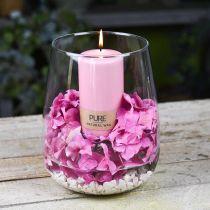 PURE Stumpenkerze 130/70 Rosa Deko Kerze nachhaltig Naturwachs