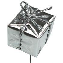 Päckchen am Draht Silber 2,5cm 60St