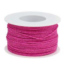 Papierkordel Draht umwickelt Ø2mm 100m Pink