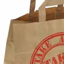 Papiertasche Take Away 26cm x 17cm x 25cm 25St
