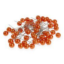 Perlkopfnadeln Orange Ø10mm 60mm
