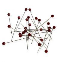 Perlkopfnadeln Ø6mm 65mm Rot