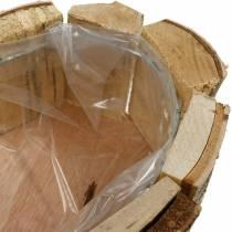 Pflanzgefäß, Holzschale Herzform, Pflanzkasten aus Birkenholz, Herzschale 27×28cm