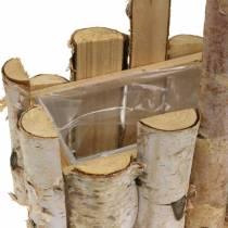 Pflanzkorb Birkenäste mit Griff 24x14,5cm H25,5cm