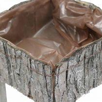 Stühle zum Bepflanzen, Pflanzgefäß, Gartendeko Shabby Chic, Weiß gewaschen 2er Set