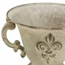Pokal Schale Vintage Creme Ø15cm H13,5cm