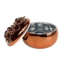 Porzellandose Kupfer Ø7,5cm H6cm