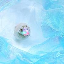 Deko-Qualle zum Hängen Blau Schimmernd mit LED-Licht Ø26 H65cm