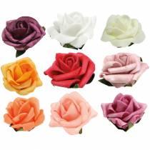 Foam-Rose Ø3,5cm verschiedene Farben 48St