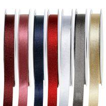Satinband mit Glimmer 10mm 20m