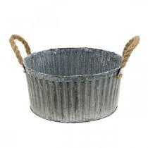 Deko-Schale, Pflanzgefäß mit Henkeln, Blumenschale zum Bepflanzen Ø25cm