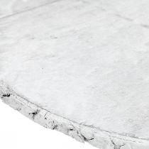 Deko Holzscheibe Vintage Tischdeko Weiß Sperrholz Ø25cm