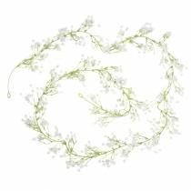 Hochzeitsdeko Girlande Schleierkraut mit Ösen Weiß 180cm
