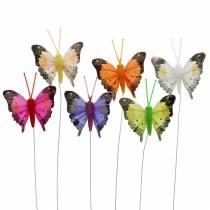 Deko-Schmetterling mit Draht sortiert 5cm 24St