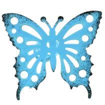 Blumenstecker Schmetterling bunt 22cm 12St