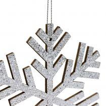 Schneeflocke Silber zum Hängen Ø8cm - Ø12cm 9St