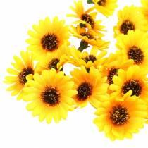 Streudeko Sonnenblumen-Köpfe Gelb Ø3,3cm 100St