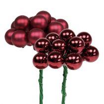 Mini Weihnachtskugel Rot, Pink Glas Spiegelbeeren Ø20mm 140St