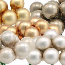 Mini Weihnachtskugeln Metallic Spiegelbeeren Glas Ø25mm 140St