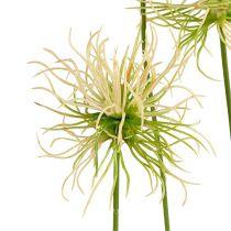 Spitzklette Zweige Creme-Grün 63cm 4St