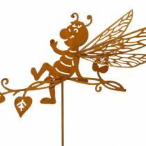 Gartenstecker Rost Biene 34,5×14cm Metall Gartendeko 4St