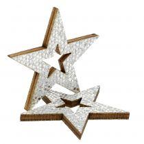 Deko-Stern Silber zum Streuen 4cm 48St