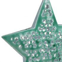 Stern Mintgrün zum Hängen 9,5cm 1St