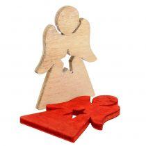 Christkinder aus Holz zum Streuen Rot, Natur 4cm 72St