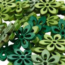 Streudeko Blume Grün, Hellgrün, Mint Holzblumen zum Streuen 144St
