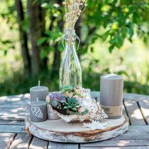 Stumpenkerze 130/70 Braun Kerze nachhaltig Naturwachs Kerzendeko