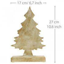 Deko Tannenbaum Holz Weiß gewaschen Weihnachtstanne 27×17×5cm