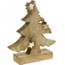 Tannenbaum Mangoholz Natur Deko Weihnachtsbaum 20×18×5cm