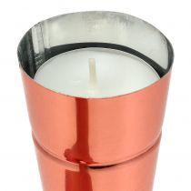 Teelichthalter Ø4,5cm H25cm Kupfer 4St