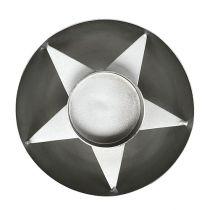 Teelichthalter Silber Ø10cm H4cm 1St