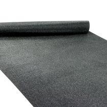 Tischdeko Tischläufer Schwarz 50cm 3m