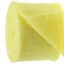 Topfband Filzband Gelb mit Punkten 15cm x 5m