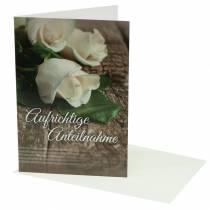 """Trauerkarte """"Aufrichtige Anteilnahme"""" mit Umschlag 1St"""