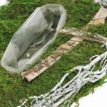 Pflanzgefäß Tropfen Moos, Rebe Gedenkfloristik 40x20cm