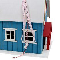 Vogelhaus, Dekohaus Blau 21cm x 30cm