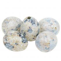 Wachteleier Weiß marmoriert 3,5cm - 4cm 60St