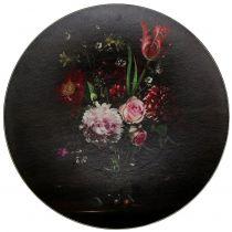 Wandteller mit floralem Muster Ø33cm