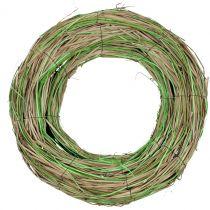 Bastkranz mit Weide Natur/Grün  Ø40cm