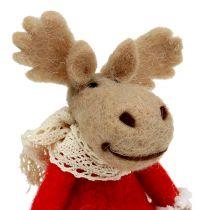 Weihnachtsfigur Elch 22cm aus Filz 2St
