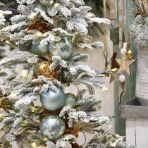 Weihnachtskugel, Baumschmuck, Christbaumkugel Blau H6,5cm Ø6cm Echtglas 24St
