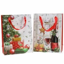 Geschenktüte Weihnachten 8cm x 18cm H24cm 2er-Set