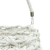 Windlicht geflochten Ø20cm H50cm Weiß