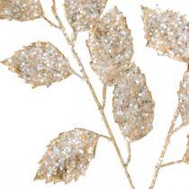 Dekozweig Gold und Glitter Weihnachtsdeko Zweig Glitzer 65cm