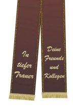Trauerband bedruckt 125mm x 75cm bordeaux