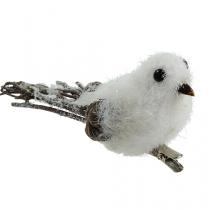 Schneevogel 14cm mit Clip